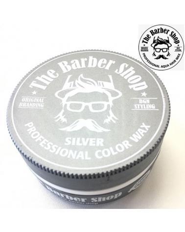 Cera capilar fijación Suave efecto brillo intenso BARBER SHOP Silver