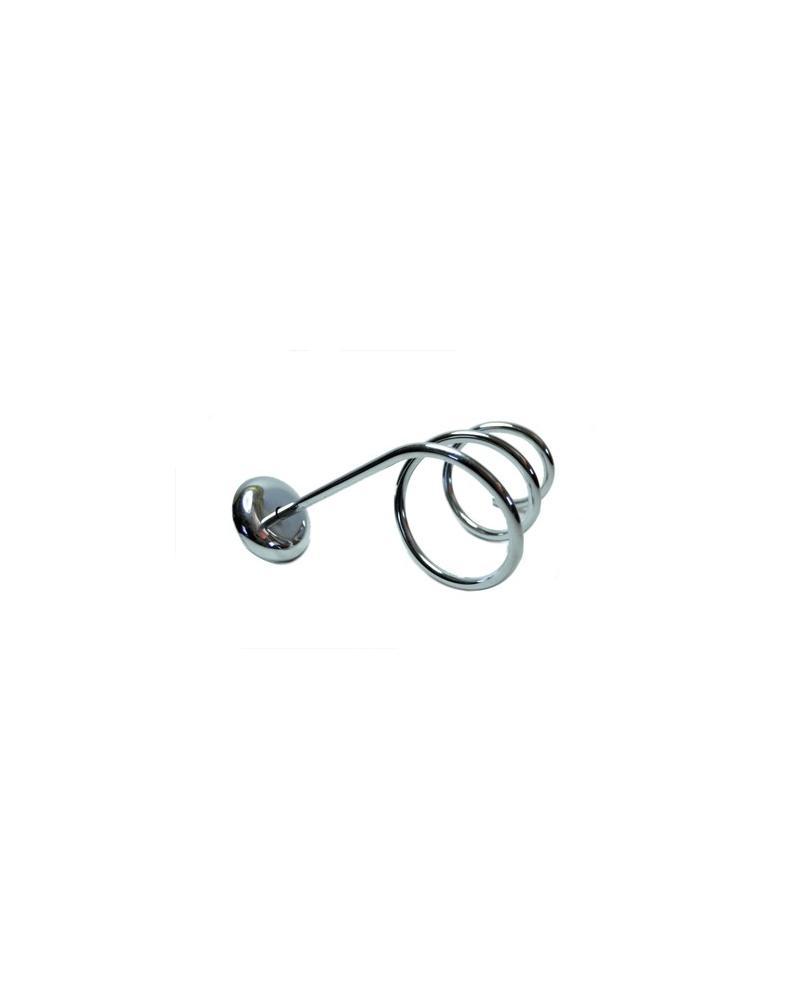 Porta secador espiral de pared metálico