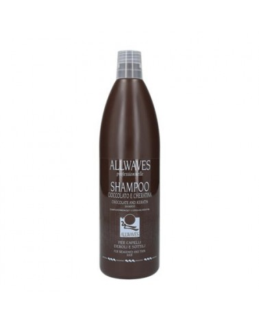Champú Chocolate y Keratina 1000 ml Allwaves